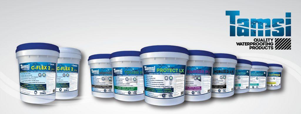 Tamsi waterproofing range